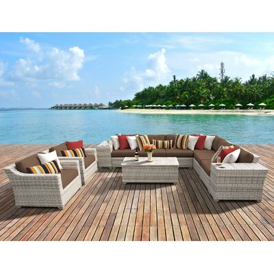 Fairmont 11 Piece Deep Seating Group with Cushion Fabric: Cocoa
