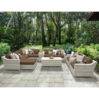 Fairmont 12 Piece Sectional Seating Group with Cushion Fabric: Cocoa