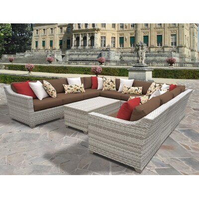 Fairmont 11 Piece Sectional Seating Group with Cushion Fabric: Cocoa