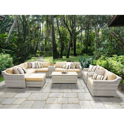 Fairmont 12 Piece Sectional Seating Group with Cushion Fabric: Sesame