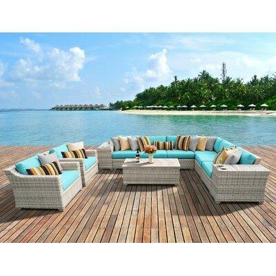Fairmont 11 Piece Deep Seating Group with Cushion Fabric: Aruba
