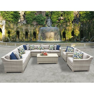 Fairmont 10 Piece Sectional Seating Group with Cushion Fabric: Beige