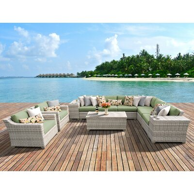 Fairmont 11 Piece Deep Seating Group with Cushion Fabric: Cilantro