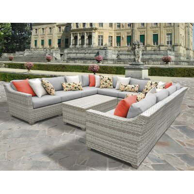 Fairmont 11 Piece Sectional Seating Group with Cushion Fabric: Gray