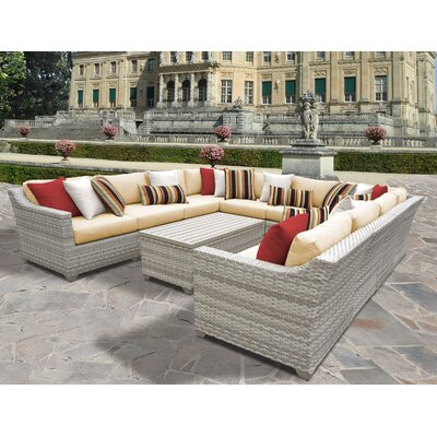 Fairmont 11 Piece Sectional Seating Group with Cushion Fabric: Sesame