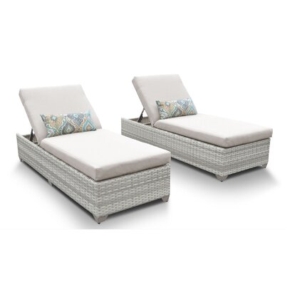 Fairmont Chaise Lounge with Cushion Fabric: Beige