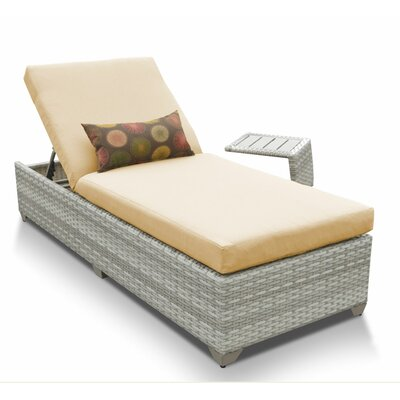 Fairmont 2 Piece Chaise Lounge Set with Cushion Fabric: Sesame