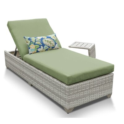 Fairmont 2 Piece Chaise Lounge Set with Cushion Fabric: Cilantro