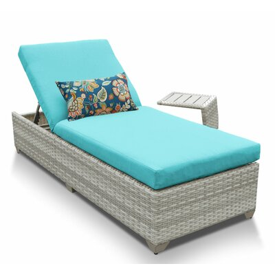 Fairmont 2 Piece Chaise Lounge Set with Cushion Fabric: Aruba