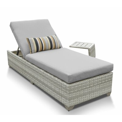Fairmont 2 Piece Chaise Lounge Set with Cushion Fabric: Gray