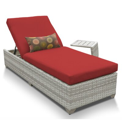 Fairmont 2 Piece Chaise Lounge Set with Cushion Fabric: Terracotta