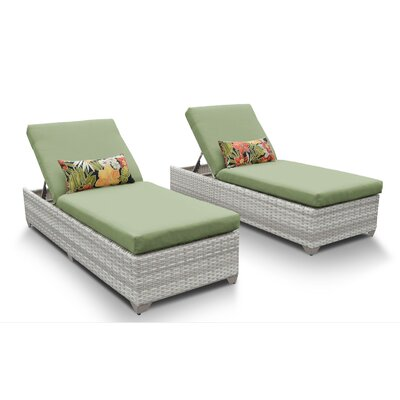 Fairmont Chaise Lounge with Cushion Fabric: Cilantro