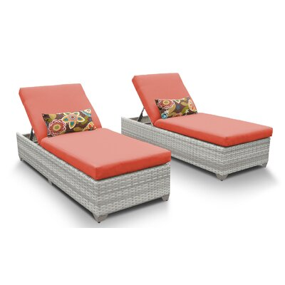 Fairmont Chaise Lounge with Cushion Fabric: Tangerine
