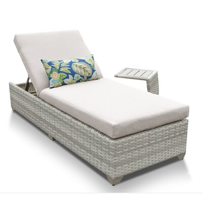 Fairmont 2 Piece Chaise Lounge Set with Cushion Fabric: Beige
