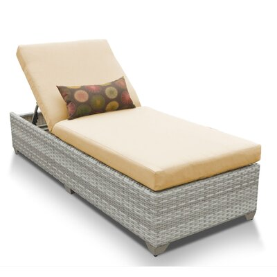 Fairmont Chaise Lounge with Cushion Fabric: Sesame