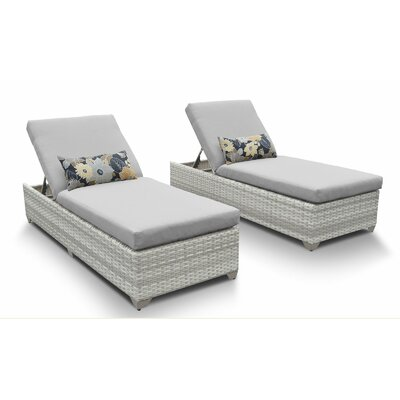 Fairmont Chaise Lounge with Cushion Fabric: Gray