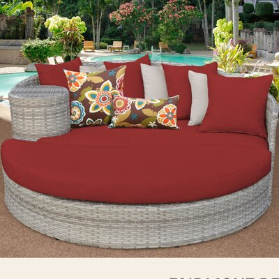 Fairmont Daybed with Cushions Fabric: Terracotta