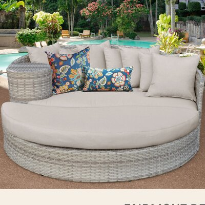 Fairmont Daybed with Cushions Fabric: Beige