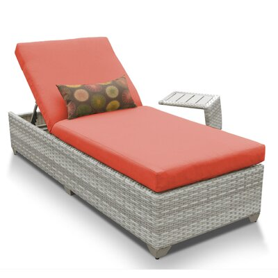 Fairmont 2 Piece Chaise Lounge Set with Cushion Fabric: Tangerine