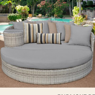 Fairmont Daybed with Cushions Fabric: Gray