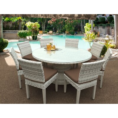 Fairmont 9 Piece Dining Set Cushion Color: Cocoa