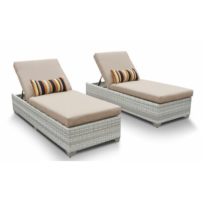 Fairmont Chaise Lounge with Cushion Fabric: Wheat