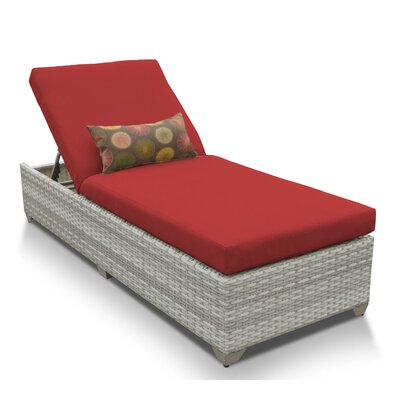 Fairmont Chaise Lounge with Cushion Fabric: Terracotta