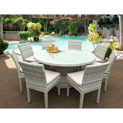 Fairmont 9 Piece Dining Set Cushion Color: Beige