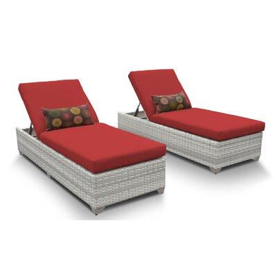 Fairmont Chaise Lounge with Cushion Fabric: Terracotta
