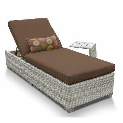 Fairmont 2 Piece Chaise Lounge Set with Cushion Fabric: Cocoa