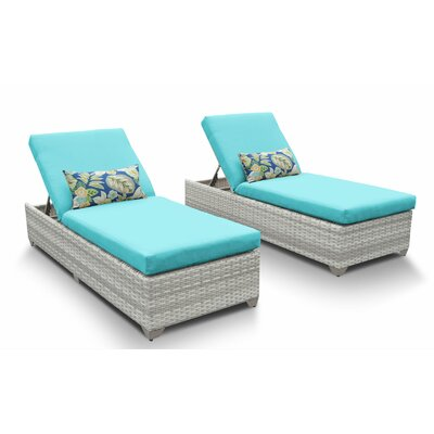 Fairmont Chaise Lounge with Cushion Fabric: Aruba