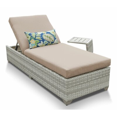 Fairmont 2 Piece Chaise Lounge Set with Cushion Fabric: Wheat