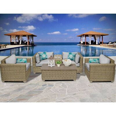 Cape Cod 6 Piece Deep Seating Group with Cushion Fabric: Grey
