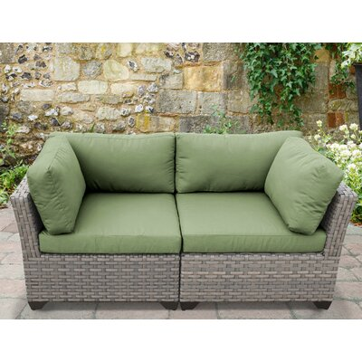 Monterey 2 Piece Deep Seating Group with Cushion Fabric: Cilantro