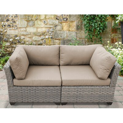 Monterey 2 Piece Deep Seating Group with Cushion Fabric: Wheat