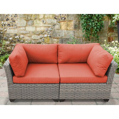 Monterey 2 Piece Deep Seating Group with Cushion Fabric: Tangerine
