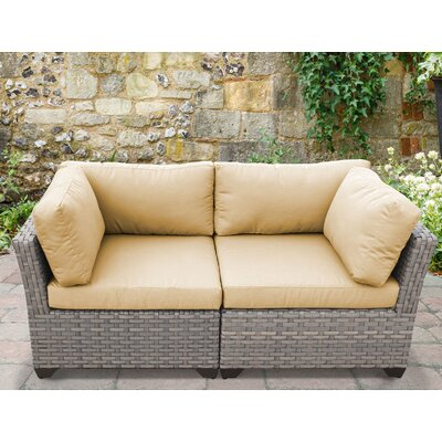 Monterey 2 Piece Deep Seating Group with Cushion Fabric: Sesame