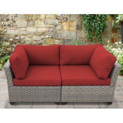 Monterey 2 Piece Deep Seating Group with Cushion Fabric: Terracotta