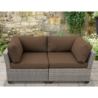 Monterey 2 Piece Deep Seating Group with Cushion Fabric: Cocoa