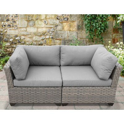 Monterey 2 Piece Deep Seating Group with Cushion Fabric: Gray