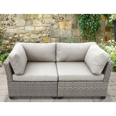 Monterey 2 Piece Deep Seating Group with Cushion Fabric: Beige