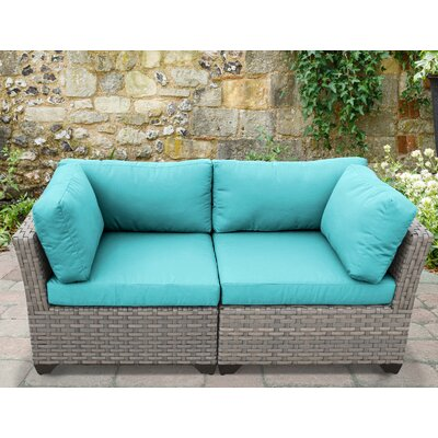 Monterey 2 Piece Deep Seating Group with Cushion Fabric: Aruba