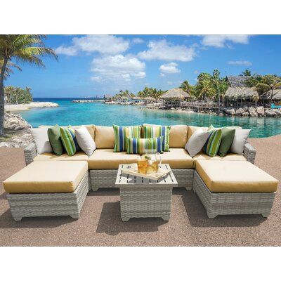 Fairmont 7 Piece Sectional Seating Group with Cushion Fabric: Sesame
