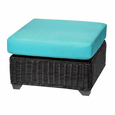 Venice Ottoman with Cushion Fabric: Tangerine