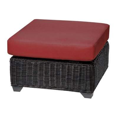 Venice Ottoman with Cushion Fabric: Terracotta