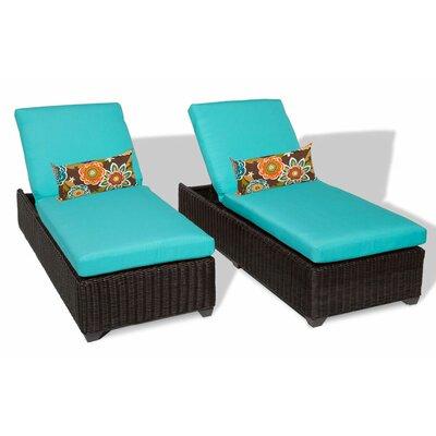 Venice Chaise Lounge with Cushion Fabric: Aruba