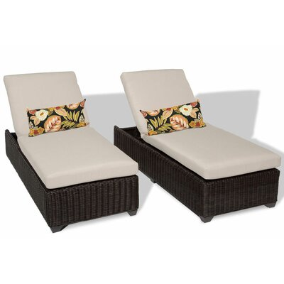 Venice Chaise Lounge with Cushion Fabric: Beige