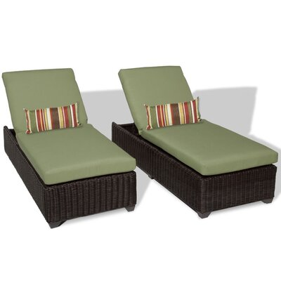 Venice Chaise Lounge with Cushion Fabric: Cilantro