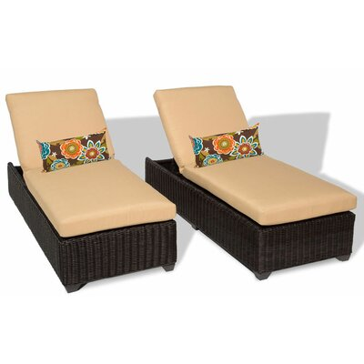 Venice Chaise Lounge with Cushion Fabric: Sesame
