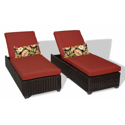 Venice Chaise Lounge with Cushion Fabric: Terracotta